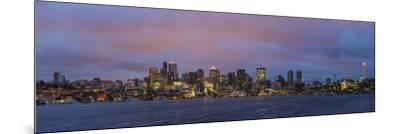 City Skyline from Gasworks Park and Lake Union in Seattle, Washington State, Usa-Chuck Haney-Mounted Photographic Print