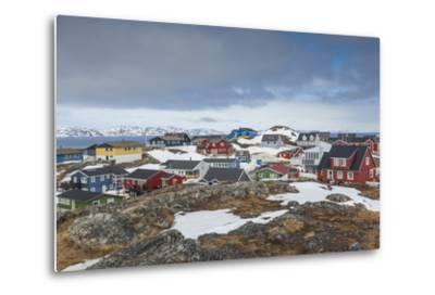 Greenland, Nuuk, Kolonihavn Area, Residential Houses-Walter Bibikow-Metal Print