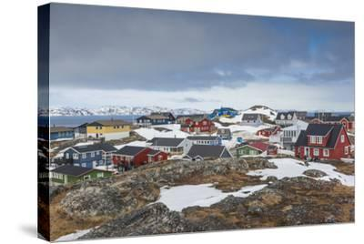 Greenland, Nuuk, Kolonihavn Area, Residential Houses-Walter Bibikow-Stretched Canvas Print
