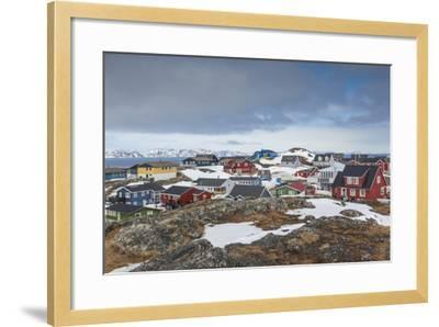 Greenland, Nuuk, Kolonihavn Area, Residential Houses-Walter Bibikow-Framed Photographic Print