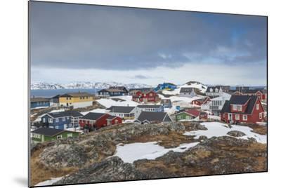 Greenland, Nuuk, Kolonihavn Area, Residential Houses-Walter Bibikow-Mounted Photographic Print