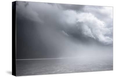 Utah, Bonneville Salt Flats. Approaching Thunderstorm-Judith Zimmerman-Stretched Canvas Print