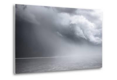 Utah, Bonneville Salt Flats. Approaching Thunderstorm-Judith Zimmerman-Metal Print