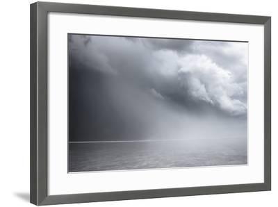 Utah, Bonneville Salt Flats. Approaching Thunderstorm-Judith Zimmerman-Framed Photographic Print