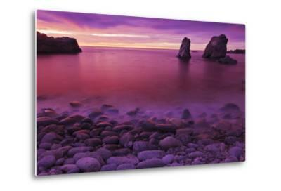 Sea Stacks at Dusk, Soberanes Point, Garrapata State Park, Big Sur, California, Usa-Russ Bishop-Metal Print
