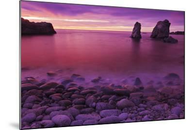 Sea Stacks at Dusk, Soberanes Point, Garrapata State Park, Big Sur, California, Usa-Russ Bishop-Mounted Photographic Print