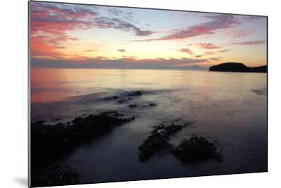 Canada, British Columbia, Cabbage Island. Colorful Sunset Overlooking the Straight of Georgia-Kevin Oke-Mounted Photographic Print