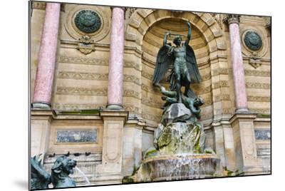 Fontaine Saint-Michel, Left Bank, Paris, France-Russ Bishop-Mounted Photographic Print