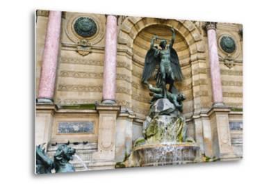 Fontaine Saint-Michel, Left Bank, Paris, France-Russ Bishop-Metal Print