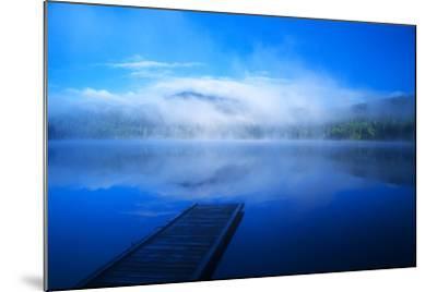 An Empty Dock on a Calm Misty Lake-John Alves-Mounted Photographic Print