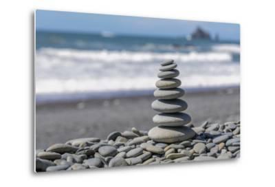 Washington State, Olympic National Park. Stacked Beach Rocks-Jaynes Gallery-Metal Print