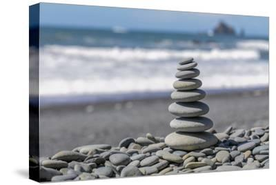 Washington State, Olympic National Park. Stacked Beach Rocks-Jaynes Gallery-Stretched Canvas Print