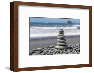 Washington State, Olympic National Park. Stacked Beach Rocks-Jaynes Gallery-Framed Photographic Print