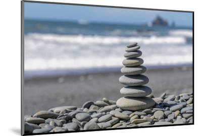 Washington State, Olympic National Park. Stacked Beach Rocks-Jaynes Gallery-Mounted Photographic Print