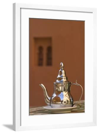 Africa, Morocco, Dades Gorge. Tea Service Reflects the Colors of Steep Walls-Brenda Tharp-Framed Photographic Print