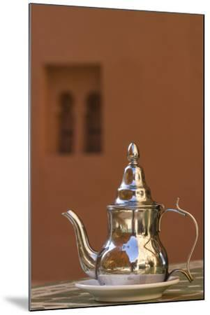 Africa, Morocco, Dades Gorge. Tea Service Reflects the Colors of Steep Walls-Brenda Tharp-Mounted Photographic Print