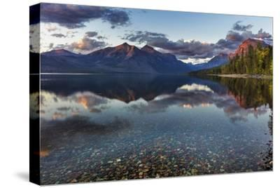 Sunset over Lake Mcdonald in Glacier National Park, Montana, Usa-Chuck Haney-Stretched Canvas Print