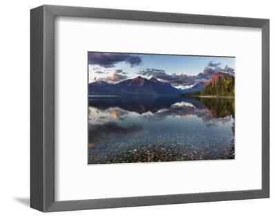 Sunset over Lake Mcdonald in Glacier National Park, Montana, Usa-Chuck Haney-Framed Photographic Print