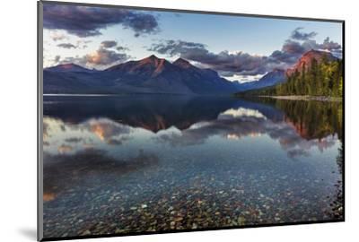 Sunset over Lake Mcdonald in Glacier National Park, Montana, Usa-Chuck Haney-Mounted Photographic Print