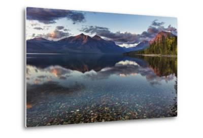 Sunset over Lake Mcdonald in Glacier National Park, Montana, Usa-Chuck Haney-Metal Print