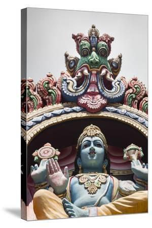 Singapore, Chinatown, Sri Mariamman Hindu Temple, Hindu Deity Detail-Walter Bibikow-Stretched Canvas Print