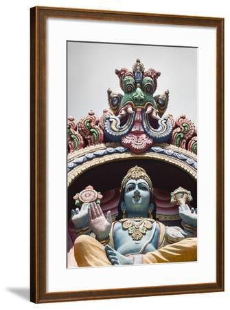 Singapore, Chinatown, Sri Mariamman Hindu Temple, Hindu Deity Detail-Walter Bibikow-Framed Photographic Print