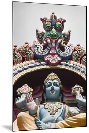 Singapore, Chinatown, Sri Mariamman Hindu Temple, Hindu Deity Detail-Walter Bibikow-Mounted Photographic Print