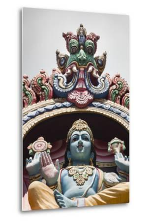 Singapore, Chinatown, Sri Mariamman Hindu Temple, Hindu Deity Detail-Walter Bibikow-Metal Print