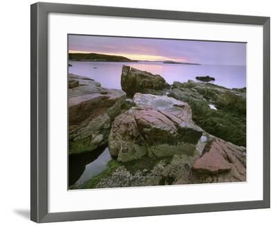 Atlantic Ocean Near Thunder Hole, Acadia National Park, Maine-Tim Fitzharris-Framed Photographic Print