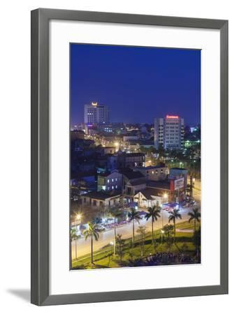 Vietnam, Dmz Area. Dong Ha, Elevated City View, Dusk-Walter Bibikow-Framed Photographic Print