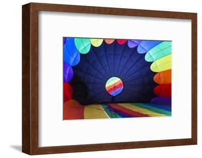 Massachusetts, Hudson, Ballon Festival, Hot Air Balloon Interior-Walter Bibikow-Framed Photographic Print