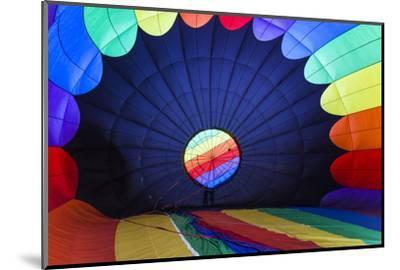 Massachusetts, Hudson, Ballon Festival, Hot Air Balloon Interior-Walter Bibikow-Mounted Photographic Print
