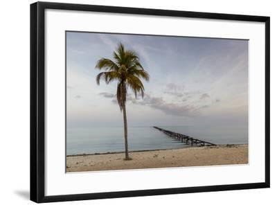Soft Light Illuminates an Old Pier, Cuba-James White-Framed Photographic Print