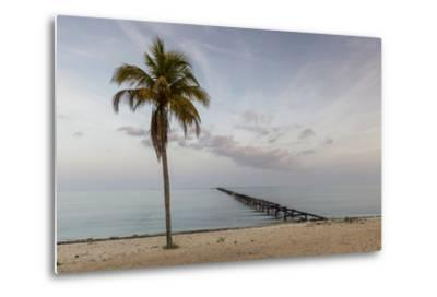 Soft Light Illuminates an Old Pier, Cuba-James White-Metal Print