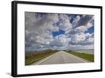 Denmark, Jutland, Oslos, Route 11 Road by the Limfjorden-Walter Bibikow-Framed Photographic Print
