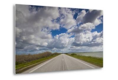 Denmark, Jutland, Oslos, Route 11 Road by the Limfjorden-Walter Bibikow-Metal Print