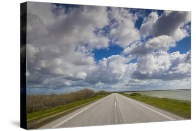 Denmark, Jutland, Oslos, Route 11 Road by the Limfjorden-Walter Bibikow-Stretched Canvas Print