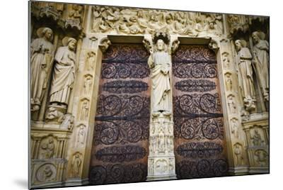 The Main Entrance to Notre Dame Cathedral, Paris, France-Russ Bishop-Mounted Photographic Print
