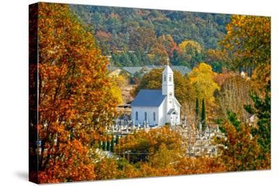 St. Sava Serbian Church and Cemetery in Jackson, California Surrounded by Fall Colors-John Alves-Stretched Canvas Print