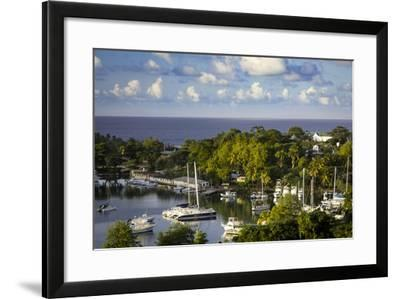 Setting Sun over the Tiny Harbor in Castries, St. Lucia, West Indies-Brian Jannsen-Framed Photographic Print