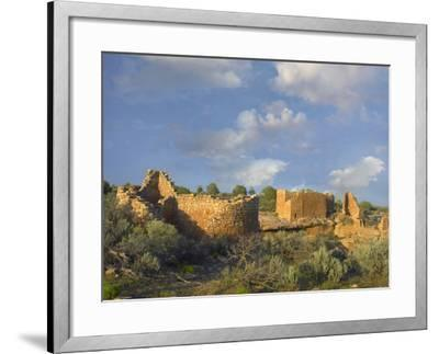Hovenweep House and Hovenweep Castle, Hovenweep National Monument, Utah-Tim Fitzharris-Framed Photographic Print