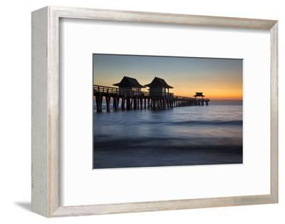 Twilight at the Naples Pier, Naples, Florida, Usa-Brian Jannsen-Framed Photographic Print