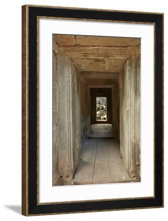 Ta Prohm Temple Ruins, Angkor World Heritage Site, Siem Reap, Cambodia-David Wall-Framed Photographic Print