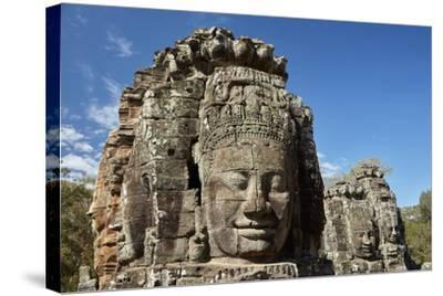 Faces Thought to Depict Bodhisattva Avalokiteshvara, Angkor World Heritage Site-David Wall-Stretched Canvas Print