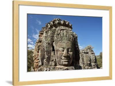 Faces Thought to Depict Bodhisattva Avalokiteshvara, Angkor World Heritage Site-David Wall-Framed Photographic Print