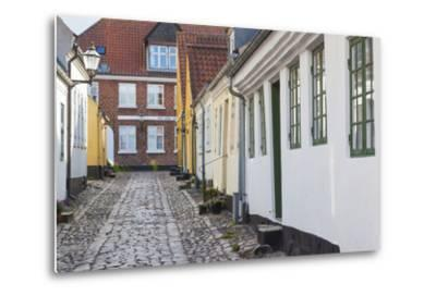 Denmark, Jutland, Ribe, Building Detail-Walter Bibikow-Metal Print