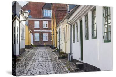 Denmark, Jutland, Ribe, Building Detail-Walter Bibikow-Stretched Canvas Print