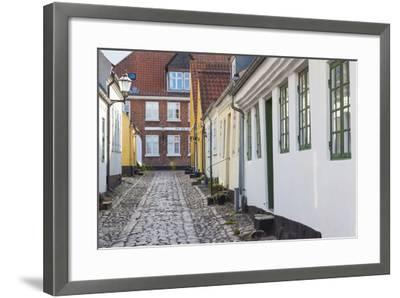 Denmark, Jutland, Ribe, Building Detail-Walter Bibikow-Framed Photographic Print