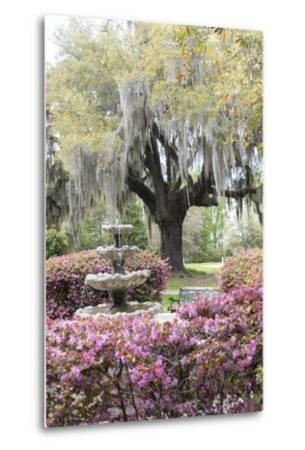 South Carolina, Frampton Plantation, Patio and Garden-Lisa S^ Engelbrecht-Metal Print