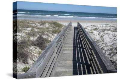 Florida, New Smyrna Beach, Smyrna Dunes Park, Boardwalk-Lisa S^ Engelbrecht-Stretched Canvas Print